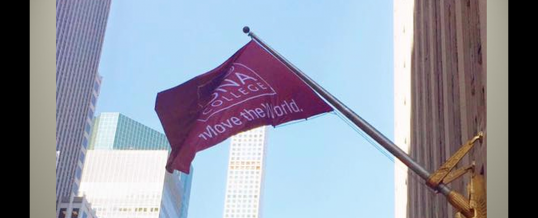 SignCenter Produces Flag For Iona College