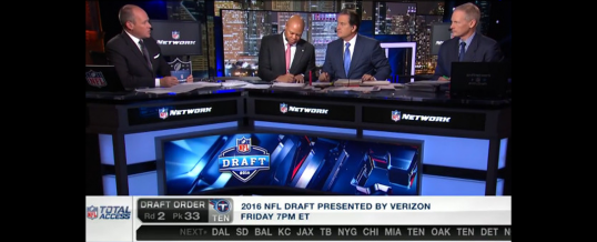 Backlit Graphics for NFL Network 2016 Draft Set